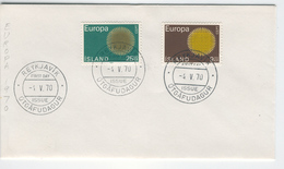 ICELAND 1970 Europa First Day Cover Mi. Nr. 442-443 - Europa-CEPT