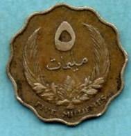 (r65)  LIBYE  5 Millièmes  1965 - Libya