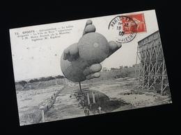 """Aérostation Le Ballon Dirigeable  """" La Ville De Paris """" Appartenant à M. Henry  Deutsch - Dirigibili"""