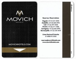 Movich  Hotels, Colombia, Used Magnetic Hotel Room Key Card # Movich-1 - Hotel Keycards
