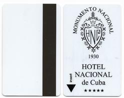Hotel Nacional, La Habana, Cuba, Used Magnetic Hotel Room Key Card # Nacional-2 - Hotel Keycards