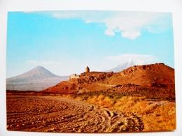 Post Card Carte Postal Stationery Ussr Armenia 1976 Monastery Landscape Mountains - Armenia