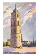 LIETUVA / LITAUEN - VILNIUS / WILNA, Am Glockenturm, Künstler-Karte - Litauen