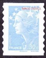France Autoadhésif N°  288 ** Au Modèle 4344 - Marianne De Beaujard - 1.30 Euro Bleu Ciel - France