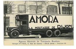 CPA 39 DOLE PUB AGENCE GENERALE DE TRANSPORTS ROUTIERS G. PITRE CAMION R. DAVID PUB AMORA LA MOUTARDE DE DIJON - Dole