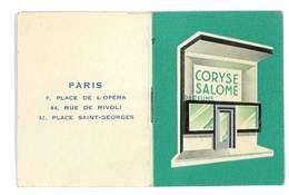 CALENDRIER 1951 CORYSE SALOME PARFUMS BOUTIQUES - Calendars