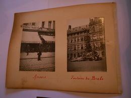 Lot De 4 Photographie Originales Circa 1900 Bruges Ferblantier Anvers Restaurant Bertrand Fontaine Brabo FAOUE Photo - Lieux