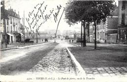 Tours. Le Pont De Pierre Vue De La Tranchée. - Tours