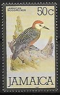 Jamaica 1980 - MNH - Jamaican Woodpecker (Melanerpes Radiolatus) - Climbing Birds