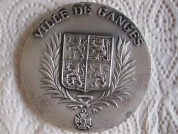 Medaille En Bronze Ville De GANGES - Hérault Par Fia - France