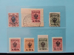 POLONIA - UFFICI DEL LEVANTE - CORPO POLACCO 1918 - 7 Valori Timbrati/nuovi * + Spese Postali - Levant (Turchia)