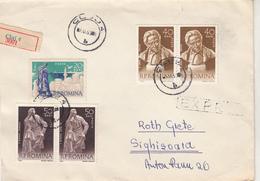 D1349 Letter Cover Romania Correspondence Registered Cluj - Sighisoara Topic Stamps Composer Enescu - Cartes-maximum (CM)