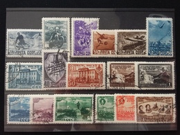 RUSSIA Anni '40 - 17 Valori - Serie Complete Timbrate + Spese Postali - Used Stamps