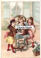 Chromo-Billet Tombola ASSOCIATION CORREZIENNE Bordeaux 33 - Fillettes Faisant Manger Un Chat  -  Scans Recto-verso - Autres