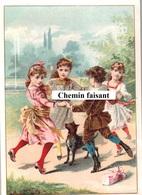 Chromo-Billet Tombola ASSOCIATION CORREZIENNE Bordeaux 33 - Farandoles D'enfants  -  Scans Recto-verso - Autres
