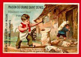 Paris, Maison Du Grand St Denis, Chromo Lith. Testu & Massin, Meunier, Grain, Farine, Pain - Autres