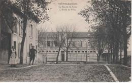 54- 300484  -  NEUVES - MAISONS   -   La Rue De La Poste ,l'Ecole Des Filles . - Neuves Maisons