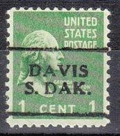 USA Precancel Vorausentwertung Preo, Locals South Dakota, Davis 701 - Vorausentwertungen