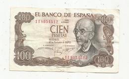 Billet , ESPAGNE , 1970 , 100 , Cien PESETAS , Série 1I , 2 Scans - 100 Pesetas