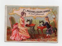 CHROMO 19ème Machines à Coudre Wanzer Dangivillé Calendrier 1877 Femme Fille Couture - Autres
