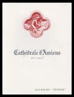 Timbre France Encart Fdc Sur Soie Tableau De La Cathédrale D Amiens  N° 1586 - 1970-1979