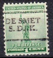 USA Precancel Vorausentwertung Preo, Locals South Dakota, De Smet 701 - Vereinigte Staaten