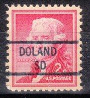 USA Precancel Vorausentwertung Preo, Locals South Dakota, Doland 841 - Vorausentwertungen