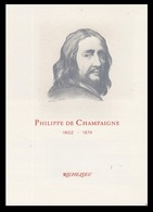 Timbre France Encart Fdc Sur Soie Tableau De La CHAMPAIGNE  N° 1766 - 1970-1979