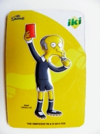 Magnet From Lithuania IKI Market The Simpsons Animation 2015 Sport Football Red Card - Sports
