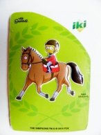 Magnet From Lithuania IKI Market The Simpsons Animation 2015 Sport Horse Animal - Sports