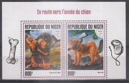 Lot Timbres Poste - Thème : CHIENS - Timbres De REPUBLIQUE DU NIGER  De 2017 - Dogs