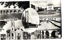 47  SOUVENIR D AGEN  -  CPSM 1950/60 - Agen