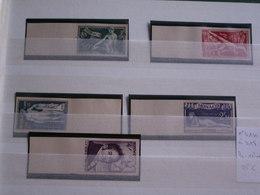 Série 5 TIMBRES  MONACO  NON DENTELES  Neufs Sans Trace De Charnière  N° 314 à 318 - 1948 - Collezioni & Lotti
