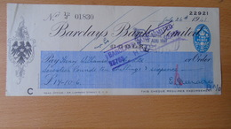 P1009.10  CHECK - Barclays Bank Limited --  1941   2 Pence Embossed Vignette - United Kingdom