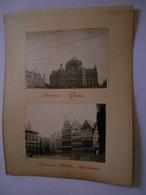 Lot De 4 Photographies Originales Circa 1900 Anvers Gare Vieilles Maisons Dinant FAOUE Photo Photographie - Lieux