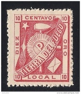 Argentina 1891 Tierra Del Fuego Julio Popper Local Post 10 C Carmin MNH/** - Unused Stamps