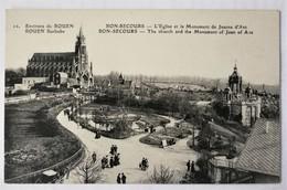 CPA - ROUEN - BONSECOURS. Eglise Et Monument Jeanne D'Arc - Bonsecours