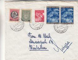 Vatican - Lettre De 1950 ° - Oblit Citta Del Vaticano - Exp Vers Winterthur - Basilique - Papes - Valeur 32 Euros - Vatican