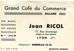 LYON(CARTE DE VISITE)CAFE DU COMMERCE - Visiting Cards