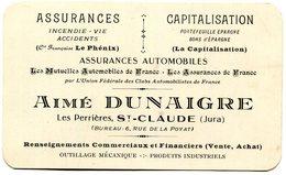 SAINT CLAUDE(CARTE DE VISITE) ASSURANCE - Visiting Cards