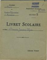 Livret Scolaire Enseignement Supérieur Section B 1940-1943 Avec Timbres - Diplômes & Bulletins Scolaires