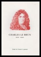 Timbre France Encart Fdc Sur Soie Tableau De Charles Le Brun  N° 1742 - 1970-1979