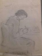 Dessin Original Représentant Modigliani - Dessins