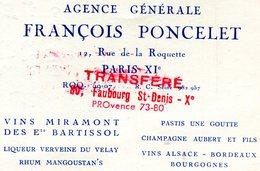 PARIS 10em ARRONDISSEMENT(CARTE DE VISITE) VIN - Visiting Cards