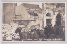 LILLE - Rue De La Gare - Guerre 1914-15 - Cinéma Music-Hall Alhambra - Carte-photo Allemande Attelage Matériel Militaire - Lille