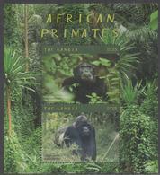 GAMBIA, 2018, MNH, PRIMATES, GORILLAS, CHIMPANZEES,  SHEETLET - Gorillas
