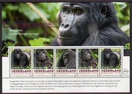 NETHERLANDS, 2018, MNH, PRIMATES, GORILLAS,   SHEETLET OF 5v - Gorillas