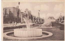 BRUXELLES / BRUSSEL / EXPO 1935 / LES FONTAINES ET LE GRAND PALAIS - Expositions Universelles