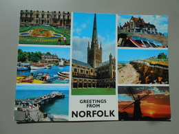 ANGLETERRE GREETINGS FROM NORFOLK - Non Classés