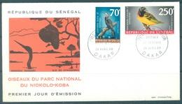 SENEGAL - 26.4.1969 - FDC - OISEAUX DU PARC NIOKOLO-KOBA Yv 311 PA65  - Lot 17180 - Sénégal (1960-...)